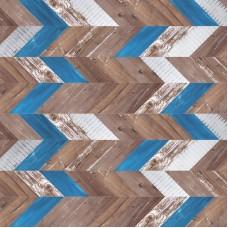 Пробковое покрытие  Chevron azul 915х305х10 мм уп=1,88м2